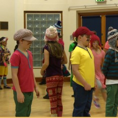 Colourful characters at Millfield Primary get ready to perform