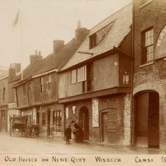 Old houses, Nene Quay, Wisbech