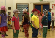 Haddenham children learning traditional songs and games
