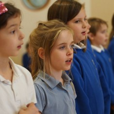 Millfield Primary school pupils rehearsing for their performance