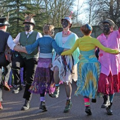 Molly dancers in Ramsey for Plough Monday 2014