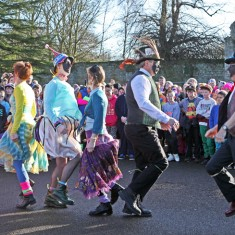 Molly dancers at Ramsey's Plough Monday celebrations