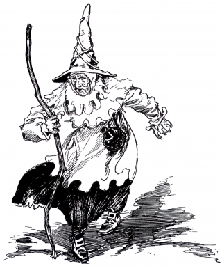 Wicked Witch of the East as pictured in The Tin Woodman of Oz by L. Frank Baum