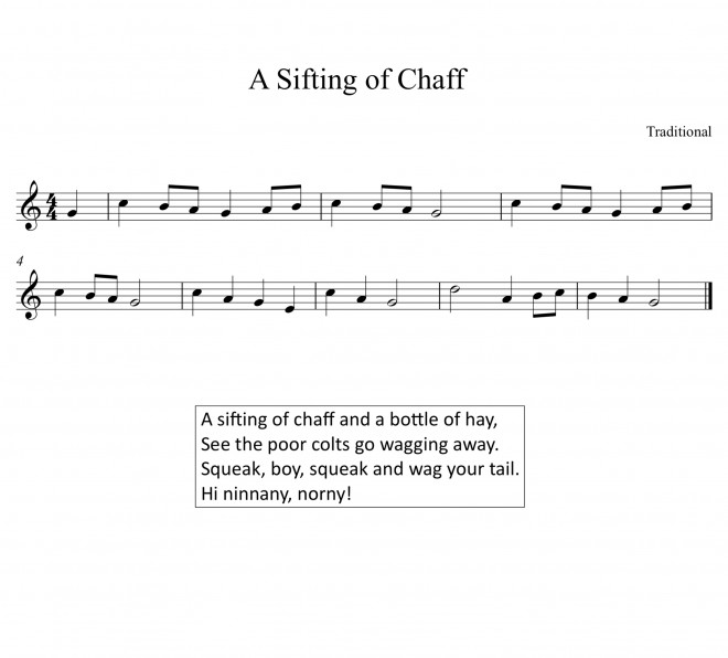 Sheet Music for The Swaffham Prior Plough Monday Song