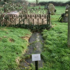 Tom Hickathrift's grave is 8ft long and lies in the graveyard at Tilney All Saints