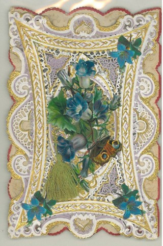 Victorian card with tassel and butterfly | Mary Humphreys