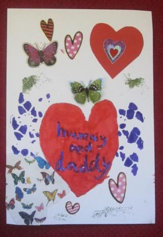 Card by Mars class pupil | Mary Humphreys