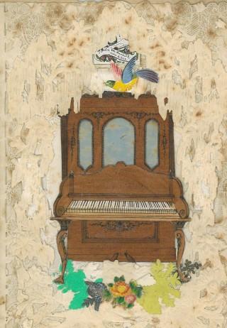 Card with piano | Mary Humphreys