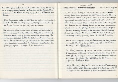 Enid Porter's notebooks