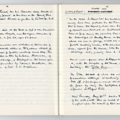 Page 1: Enid Porter's notes on the Littleport Riots
