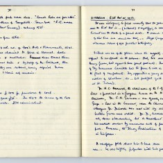 Page 1: Extract of Enid Porter's notebooks detailing the Wisbech Riots