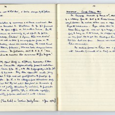 Page 3: Extract of Enid Porter's notebooks detailing the Wisbech Riots