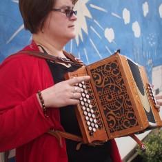 Nicky playing accordion