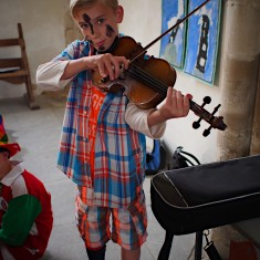 Young Musician from Swaffham Prior at St Cyriac Church