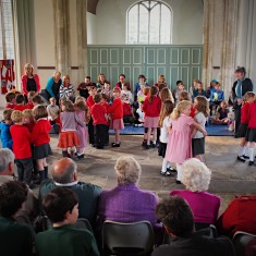 Children from Swaffham Prior Primary performed Draw a Pail of Water at Cyriacs Church