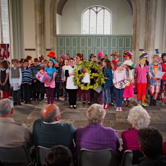 Children display their work at St Cyriac Church Performance